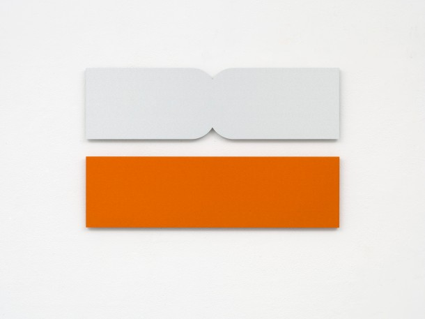 A moment in time, 75  x  21 x 1.5 cm each part, anodised aluminum, 2012